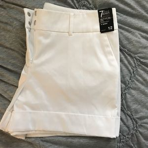 Express white shorts